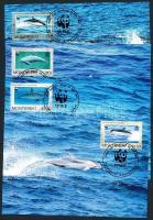 1990 WWF delfinek sor Mi 786-789 4 CM