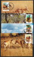 1991 WWF vörös tehénantilop sor Mi 1231-1234 4 CM