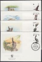 1988 WWF madarak sor Mi 637-640 4 FDC