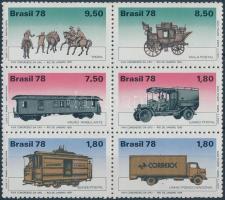 Development of postal service block of 6, Posta szolgálat fejlődése hatostömb