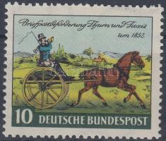 1952 100 éves a Thurn és Taxis-i bélyeg első kiadása; bélyegnap Mi 160
