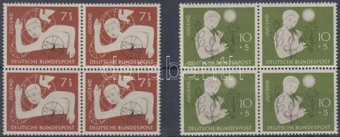 1956 Ifjúság 2 négyestömb (sor) Mi 232-233