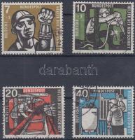 1957 Jólét: szénbányászat sor Mi 270-273
