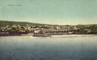 Fiume, port, ship