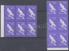 2005 Forgalmi bélyeg: Madár fogazott és vágott ívszéli hatostömb Mi 448 A+B