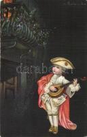 Italian art postcard s: Colombozott, Olasz művészeti képeslap, s: Colombo