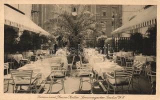 Berlin, Restaurant Kaiser Keller, Kaiser Hotel, Sommergarten