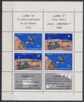 Space research: Luna 16 and 17 block (folded), Űrkutatás: Luna 16 és17 blokk (hajtott)