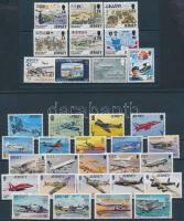 1974-1999 Repülő motívum 6 db sor + 4 db bélyeg 2 stecklapon