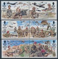 1992 50 éves az ejtőernyős ezred sor párokban Mi 497-502