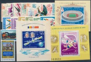 14 diff. stamps with 2 sets + 3 blocks, 14 klf bélyeg, közte 2 klf sor + 3 blokk