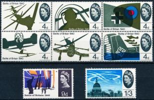 1965 Légi csata 25. évfordulója sor Mi 394-401 x (hatostömb + 2 érték)