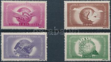 1945 Szakszervezeti Világkongresszus sor Mi 917-923