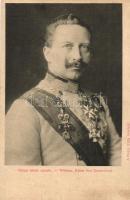 Kaiser Wilhelm II, Vilmos német császár, a Képes Újság felvételei; hátoldalon Lysoform reklám