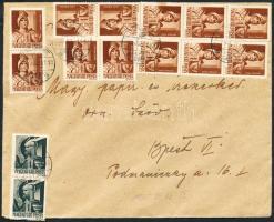 1945 (2.díjszabás) Távolsági levél 3. súlykategóriában Hadvezérek 2x1f + 12x4f bérmentesítéssel