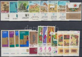 52 klf tabos bélyeg 3 db stecklapon, 52 diff. stamps with tab on 3 stockcards