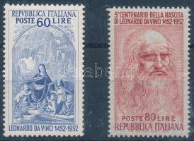 1952 Leonardo da Vinci (II) sor Mi 877-878