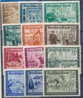 1939 Német Posta (I) sor Mi 702-713 (703 falcos)