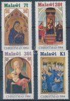 1984 Karácsony: festmények sor Mi 437-440