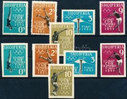 1962 Nyári olimpia, Tokió (I) fogazott és vágott sor Mi 657-661 AB