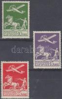 1925 Légiposta sor Mi 143-145