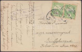 1916 Képeslap brassói cenzúrával
