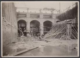 cca 1900-1910 Bezdán, Ferenc József zsilip a Ferenc csatorna torkolatánál, feliratozva, 8x11 cm