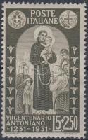 1931 Páduai Szent Antal záróérték Mi 368