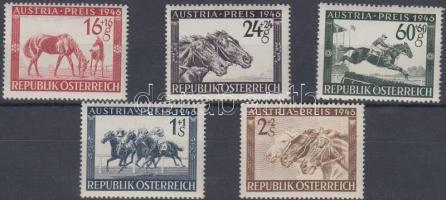 1946 Lóverseny: Osztrák Nagydíj sor Mi 785-789