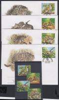 1995 WWF Ködfoltos párduc sor + 4 FDC Mi 557-560