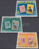 1967 100 éves a Maláj bélyeg sor Mi 47-49
