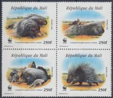 WWF North African porcupine block of 4, WWF Észak-afrikai tarajos sül négyestömb