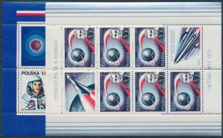 Űrkutatás, első lengyel űrhajós blokk sor, Space Research, First Polish Atronaut blockset