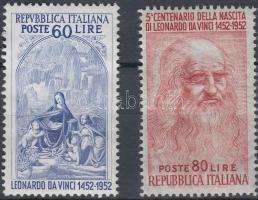 1952 500 éve született Leonardo da Vinci sor Mi 877-878