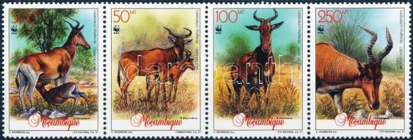 1991 Vörös tehénantilop négyescsík Mi 1231-1234