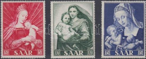 1954 Madonna festmények sor Mi 351-353
