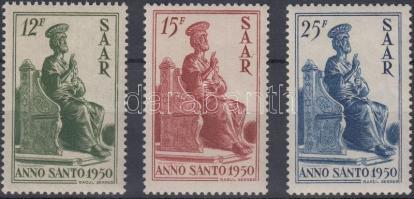1950 Szent év sor Mi 293-295