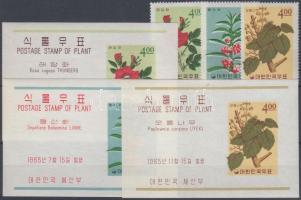 1965 Növények 3 klf fogazott bélyeg Mi 486 + 492 + 512 + 3 klf vágott blokk Mi 208 + 214 + 220