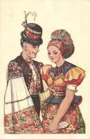 Hungarian folklore s: Németh, Fiatal pár népviseletben s: Németh