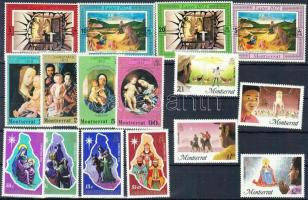 1972/1985 Vallási ünnepek 4 klf sor Mi 273-276 + 295-298 + 605-608 + 355-358