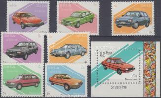 1987 Autók sor Mi 1010-1016 + blokk Mi 117