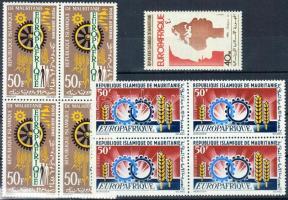 1964/1975 EUROPAFRIQUE bélyeg + 2 klf négyestömb Mi 222 + 298 + 511