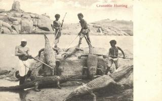 Egyptian folklore, Crocodile hunting, Krokodilvadászat, egyiptomi folklór