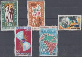 1963/1972 EUROPAFRIQUE 5 klf bélyeg Mi 52 + 77 + 131 + 167 + 339