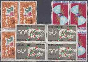1964/1968 EUROPAFRIQUE 3 klf négyestömb Mi 77 + 131 + 188