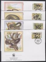 1993 WWF kígyók sor WWF értékei Mi 50-53 4 FDC