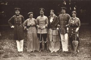 Kaiserfamilie / Kronprinz Wilhelm, Prinz August Wilhelm, Prinz Eitel Friedrich, A császári család; Vilmos császári herceg, Ágost Vilmos herceg, Eitel Frigyes herceg
