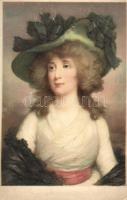 Lady with hat, M. Munk Nr. 1105., Hölgy kalappal, M. Munk Nr. 1105.