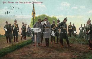 Der Kaiser mit dem grossen Generalstab / Wilhelm II and his generals, II. Vilmos német császár és tábornokai