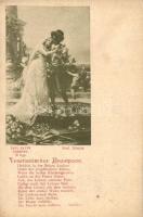 Venetianisches Brautpaar / Romantic couple, Schiller's poem illustration s: Rud. Rössler, Romantikus pár s: Rud. Rössler (EK)